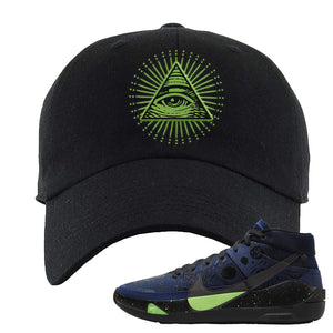 KD 13 Planet of Hoops Dad Hat | All Seeing Eye, Black