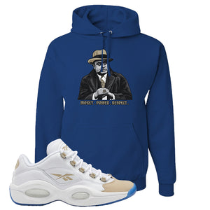 Reebok Question Low Oatmeal Hoodie | Royal Blue, Capone Illustration