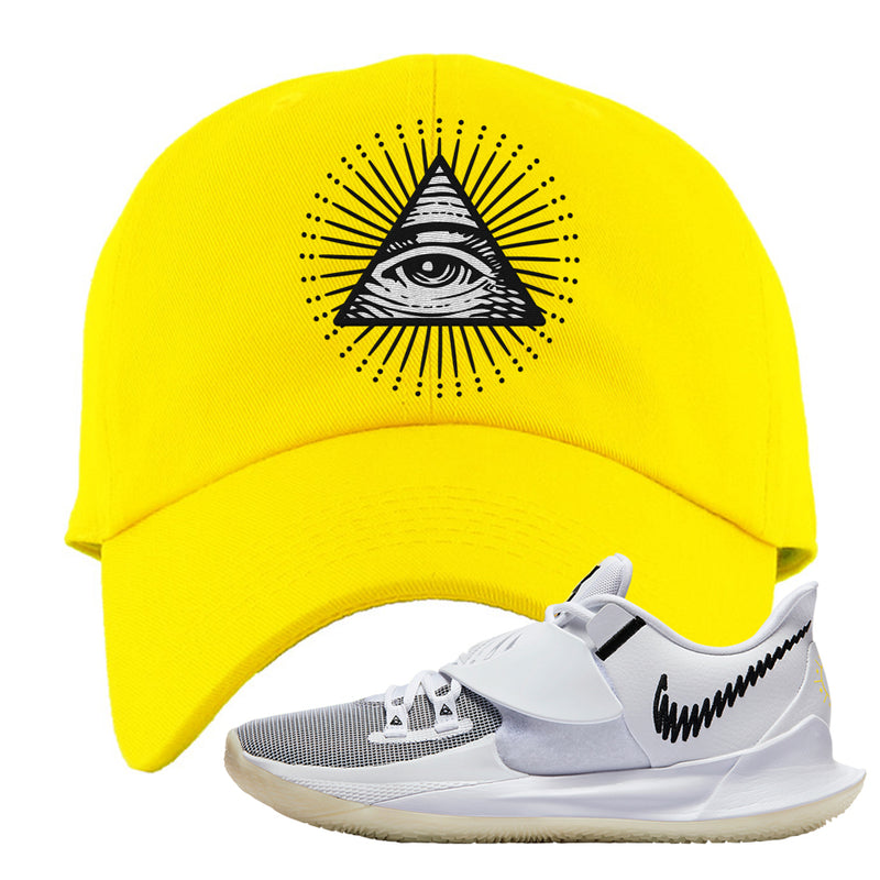 Kyrie Low 3 Dad Hat | Yellow, All Seeing Eye