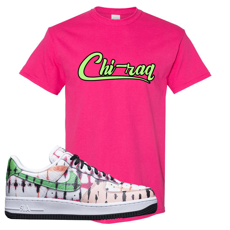 Air Force 1 Low Multi-Colored Tie-Dye T Shirt | Heliconia, Chiraq