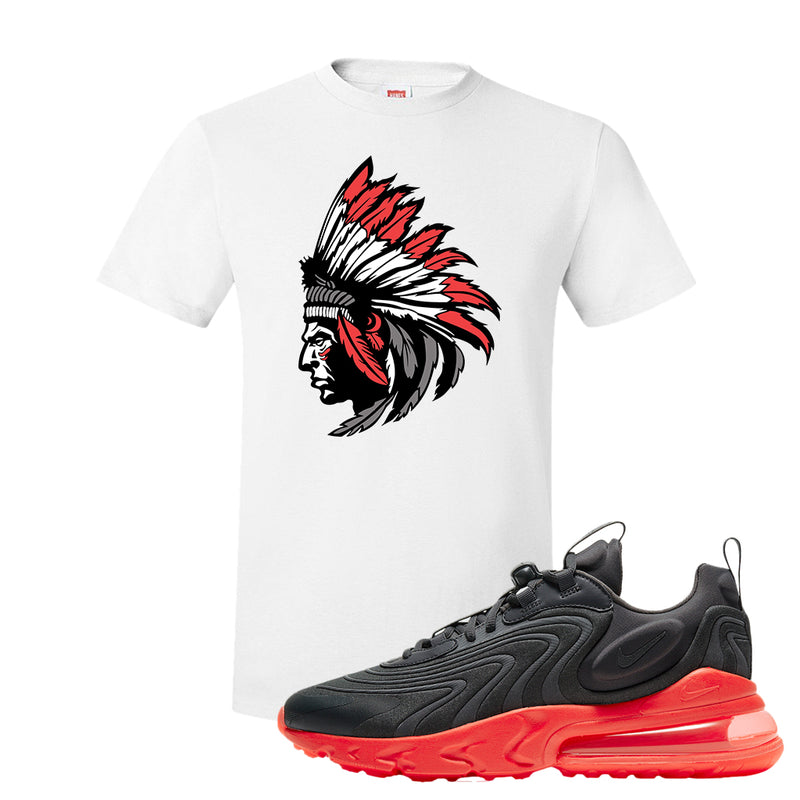 Air Max 270 React ENG Tonal Grey And Crimson Color T Shirt | Indian Chief, White