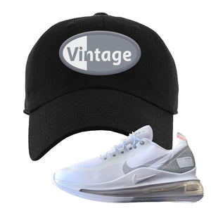 Air Max 720 Utility White Dad Hat | Black, Vintage Oval