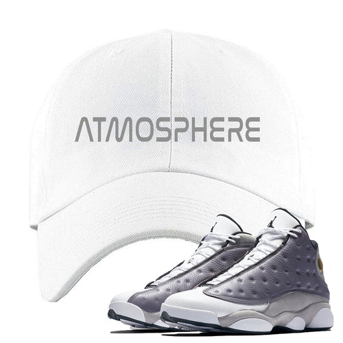 "Jordan 13 Atmosphere Grey ""Atmosphere"" White Dad Hat"