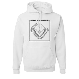 Connie Mack Pullover Hoodie | Connie Mack Stadium White Pullover Hoodie
