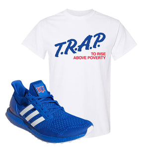Ultra Boost 1.0 Kansas T Shirt | Trap To Rise Above Poverty, White