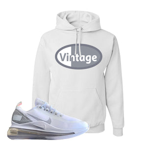 Air Max 720 Utility White Hoodie | White, Vintage Oval