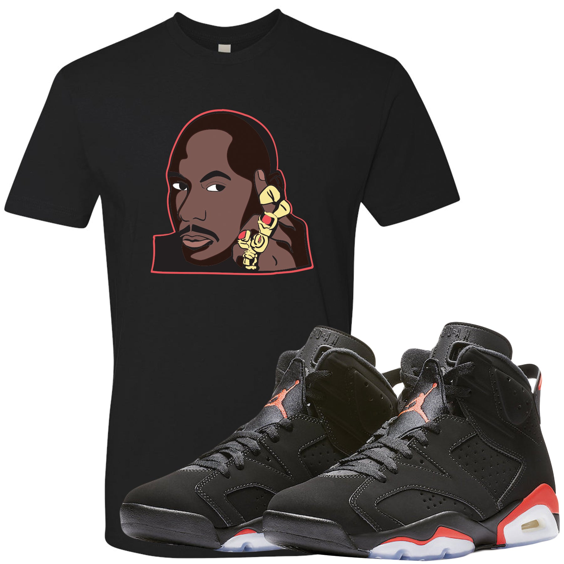 best sneakers 4abd5 66db6 The Jordan 6 Infrared Sneaker Matching Tee is custom designed to perfectly  match the retro Jordan
