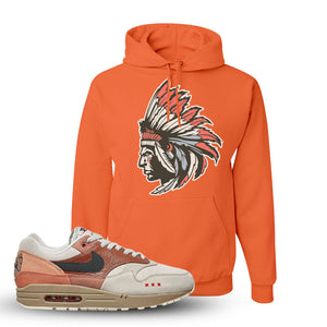 Air Max 1 Amsterdam City Pack Sneaker Retro Heather Coral Pullover Hoodie | Hoodie to match Nike Air Max 1 Amsterdam City Pack Shoes | Indian Chief