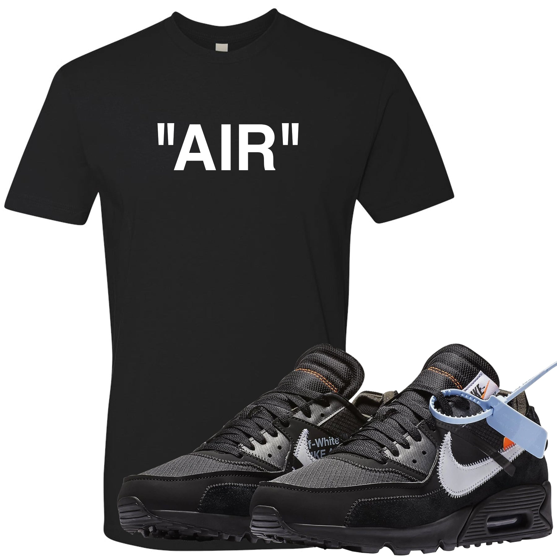 wholesale dealer ab143 e5a88 Air Max 90 OFF-WHITE Black Sneaker Matching