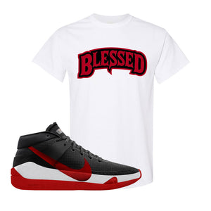 KD 13 Bred T-Shirt | Blessed Arch, White