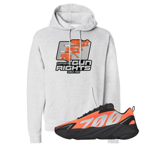 Water Soaker Ash Pullover Hoodie to match Yeezy Boost 700 MNVN Orange Sneaker