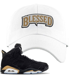 Jordan 6 DMP 2020 Dad Hat | White, Blessed Arch