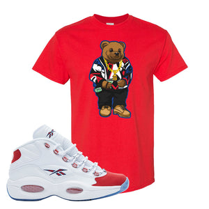 Question Mid OG Suede Toe T Shirt | Sweater Bear, Red