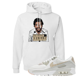 Air Max 90 Zebra Snakeskin Hoodie | Escobar Illustration, White