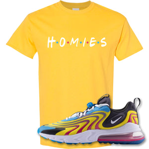 Homies Daisy T-Shirt to match Air Max 270 React ENG Laser Blue Sneakers
