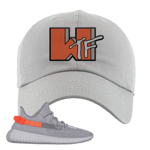 Yeezy Boost 350 V2 Tail Light Sneaker Light Gray Dad Hat | Hat to match Adidas Yeezy Boost 350 V2 Tail Light Shoes | WTF