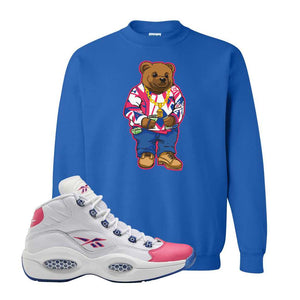 Question Mid Pink Toe Sweatshirt | Sweater Bear, Royal