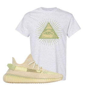 Yeezy Boost 350 V2 Flax T-Shirt | Ash, All Seeing Eye