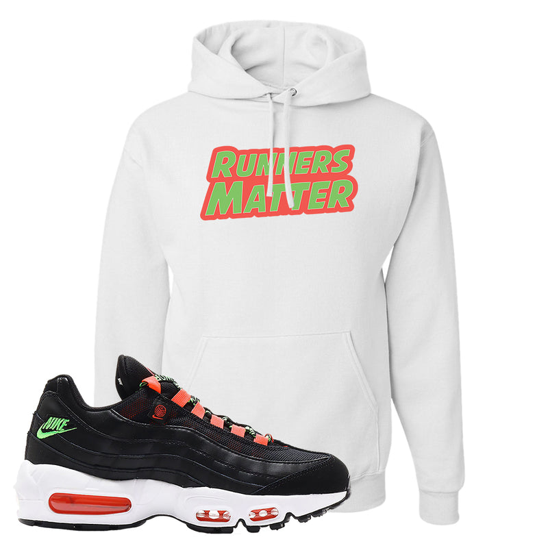 Air Max 95 Worldwide Black Green Hoodie | White, Runners Matter
