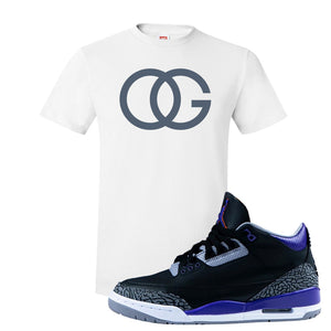 Air Jordan 3 Court Purple T Shirt | OG, White