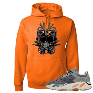 Yeezy Boost 700 Magnet Sneaker Mask Safety Orange Sneaker Matching Pullover Hoodie