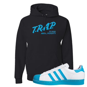 Adidas Superstar 'Aqua Toe' Hoodie | Black, Trap To Rise Above Poverty