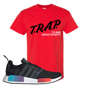 NMD R1 Gradient T Shirt | Red, Trap To Rise Above Poverty