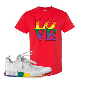 NMD R1 Pride T Shirt | Red, Love Park