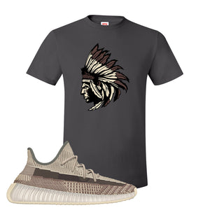 Yeezy 350 v2 Zyon T Shirt | Smoke Grey, Indian Chief