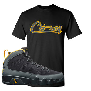 Air Jordan 9 Charcoal University Gold T Shirt | Chiraq, Black