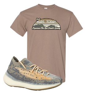 Yeezy Boost 380 Mist Sneaker Brown Savanna T Shirt | Tees to match Adidas Yeezy Boost 380 Mist Shoes | Visit Mars