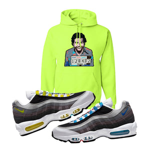 Air Max 95 QS Greedy Hoodie | Safety Green, Escobar Illustration