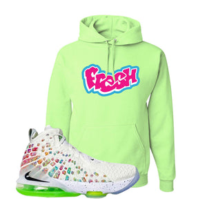 Lebron 17 Air Command Force Hoodie | Neon Green, Fresh