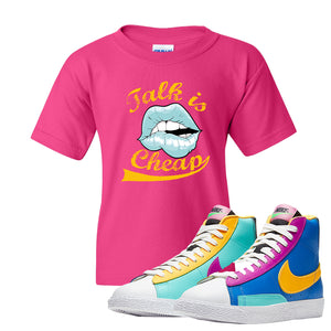Blazer Mid Big Kids T Shirt | Heliconia, Talk is Cheap