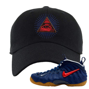 Air Foamposite Pro USA Dad Hat | Black, All Seeing Eye