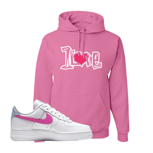 Air Force 1 Low Fire Pink Hoodie | Azalea, 1 Love