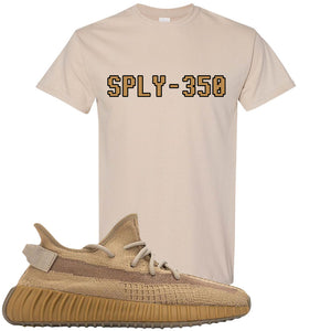 Yeezy Boost 350 V2 Earth Sneaker T-Shirt To Match | SPLY-350, Sandstone