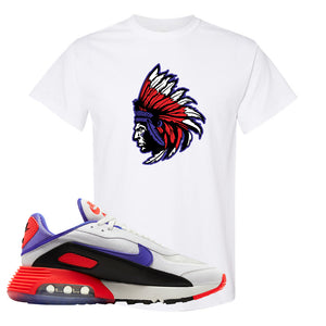 Air Max 2090 Evolution Of Icons T Shirt | Indian Chief, White