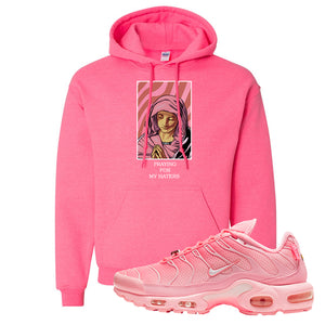Air Max Plus Atlanta City Special Hoodie | God Told Me, Safety Pink