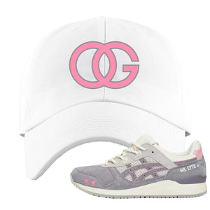 END x Asics Gel-Lyte III Grey And Pink Dad Hat | OG, White