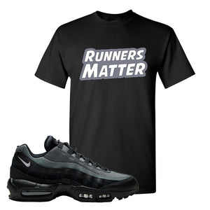 Air Max 95 Black Smoke Grey T Shirt | Runners Matter, Black