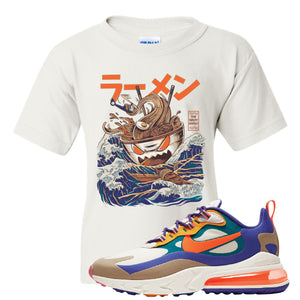 Air Max 270 React ACG Kid's T-Shirt | White, Ramen Monster