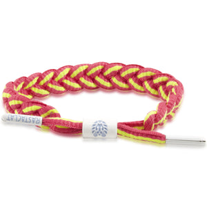 Rastaclat Neon Pink / Yellow Braided Shoelace Bracelet