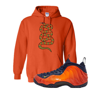 Foamposite One OKC Hoodie | Orange, Coiled Snake