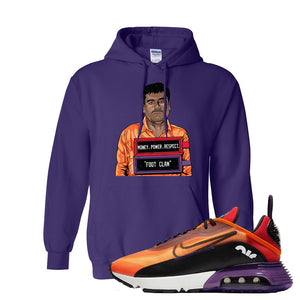 Air Max 2090 Magma Orange Hoodie | Purple, El Chapo Illustration