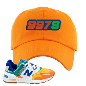 997S Multicolor Sneaker Orange Dad Hat | Hat to match New Balance 997S Multicolor Shoes | 997S