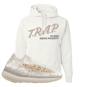 Yeezy Boost 380 'Pepper' Hoodie | White, Trap To Rise Above Poverty