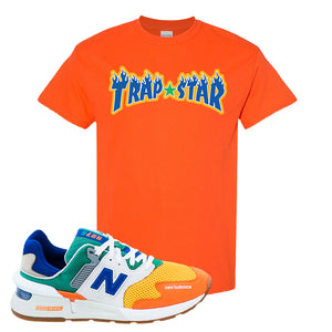 997S Multicolor Sneaker Orange T Shirt | Tees to match New Balance 997S Multicolor Shoes | Trap Star