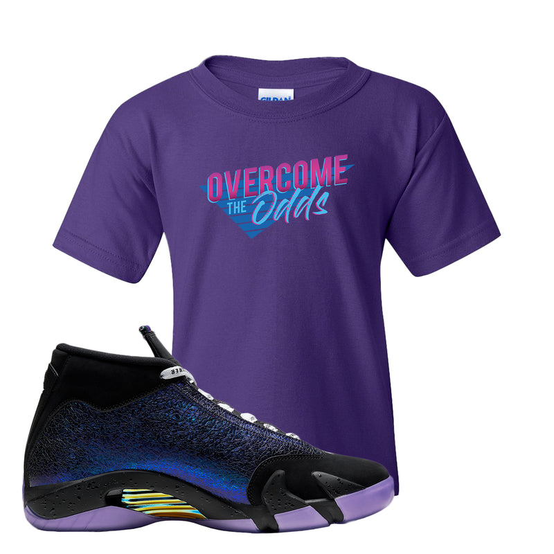 Jordan 14 Doernbecher Kid's T Shirt | Purple, Overcome The Odds