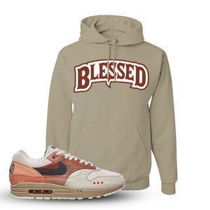 Air Max 1 Amsterdam City Pack Sneaker Khaki Pullover Hoodie | Hoodie to match Nike Air Max 1 Amsterdam City Pack Shoes | Blessed Arch